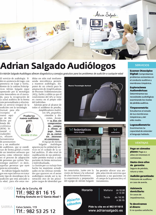 Adrián Salgado Audiólogos-Reportaje La Voz de Galicia
